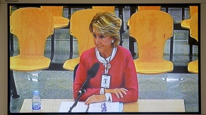 Esperanza Aguirre compareix com a testimoni en el judici de la Gürtel