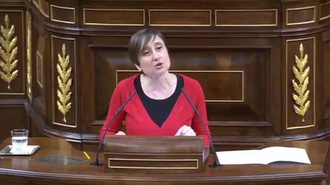Intervención de Marta Sibina en el Congreso de los Diputados.