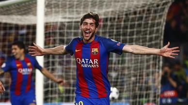Mira les celebracions més sonades del gol de Sergi Roberto