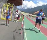 Carrera de 'retro running' de 100 metros, celebrada en el Valle de Aosta (Italia), el a�o pasado.