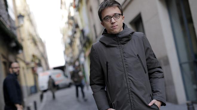 Íñigo Errejón, en el barrio de Lavapiés, en Madrid.