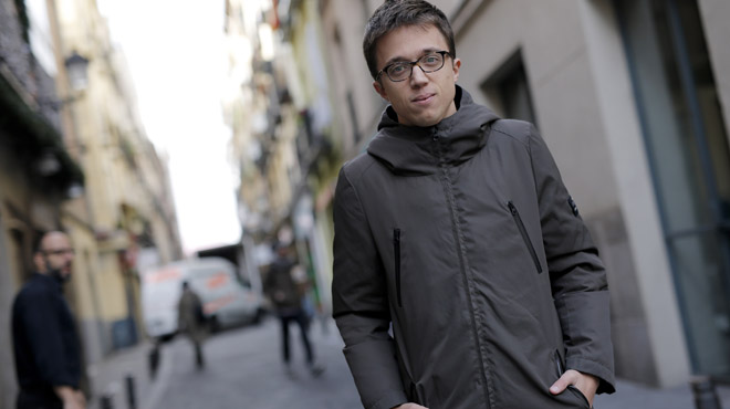 Íñigo Errejón, al barri de Lavapiés, a Madrid.