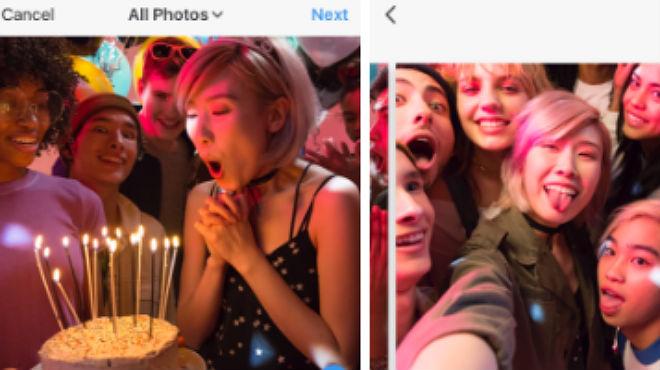 Instagram permite compartir álbumes de 10 fotos y vídeos en un solo post
