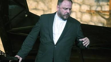 Matthias Goerne, durante el recital del s�bado en Vilabertran.