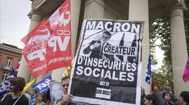 La reforma laboral de Macron se enfrenta a su primera prueba de fuego
