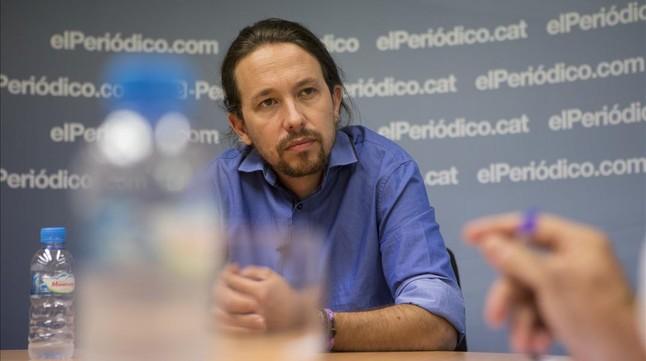 """Pablo Iglesias: """"La voluntad de los catalanes ha de escucharse"""""""