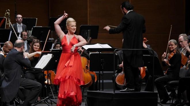 El concierto de lasoprano Diana Damrau, uno de los53 espect�culos queagot�localidades esta temporada.