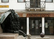 Una sucursal de Veneto Banca, en la ciudad italiana de Venecia.