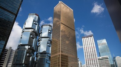 Vista general del Centro de Finanzas de Hong Kong, donde se encuentra el Consulado General de la Rep�blica de Corea del Sur.