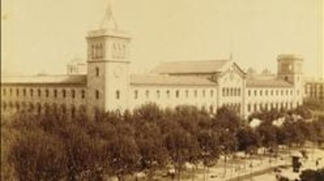 Edificio central de la Universitat de Barcelona, en 1890.