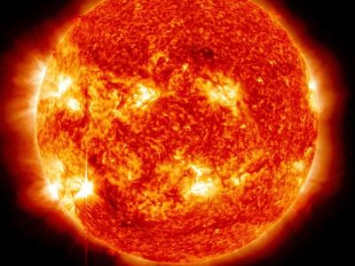 La actividad solar vista desde un telescopio de la NASA.