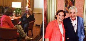 Ada Colau i Pasqual Maragall en la imatge que ha pujat lalcaldessa de Barcelona al seu compte de Twitter.