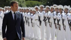 mbenach39797058 french president emmanuel macron reviews the presidential gu170825184906
