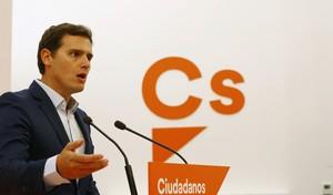 Albert Rivera tras la reunión de la Ejecutiva de Ciudadanos