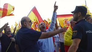 Manifestación ultra en Zaragoza.
