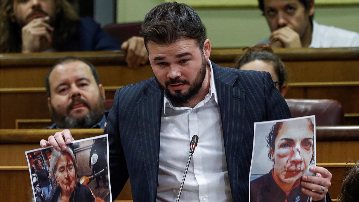 Gabriel Rufián ha preguntado al Gobierno si está dispuesto a sentarse en una mesa y aceptar la mediación para resolver la crisis