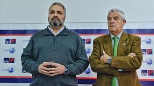 Rueda de prensa en el Sindicat de Policia de Catalunya por caso de espionaje