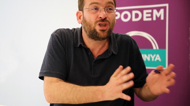 Entrevista con Albano Dante Fachin, sceretario general de Podem Catalunya, después de la asamblea de los 'comuns'.