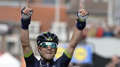 Alejandro Valverde dedica a Michele Scarponi su cuarta victoria en Lieja.