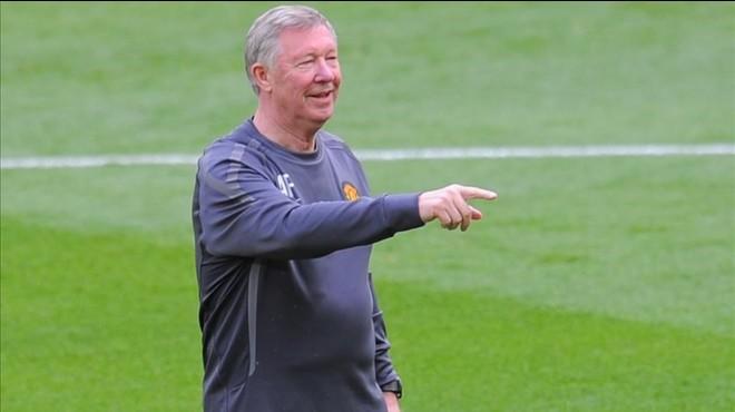 Alex Ferguson, durante su etapa como entrenador del United