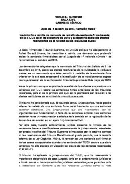 El supremo rechaza revisar los casos de cl usulas suelo ya for Clausula suelo supremo