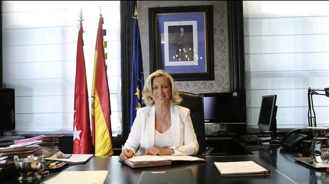 Concepción Dancausa, de família falangista i de l'ala dura del PP