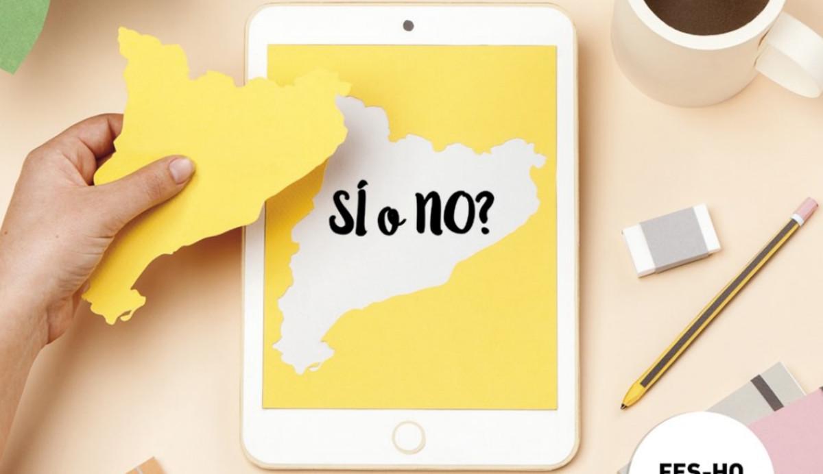 Imagen de la campaña del Govern para fomentar el registro de catalanes en el exterior.
