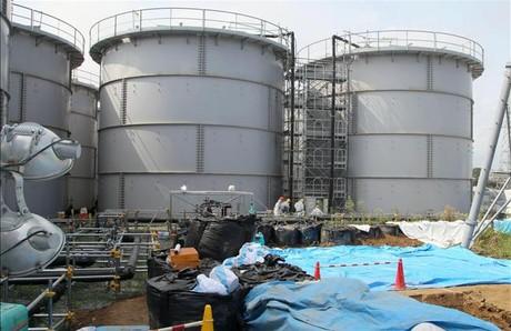 Los dep�sitos de agua contaminada de Fukushima, el pasado viernes.