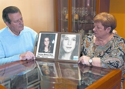 Los padres de Cristina Bergua, desaparecida hace 19 a�os..