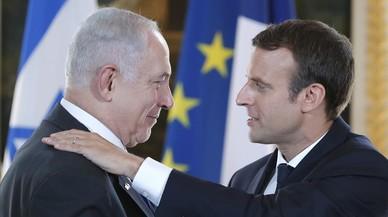 Macron reafirma ante Netanyahu la solución de los dos Estados en el conflicto israelo-palestino