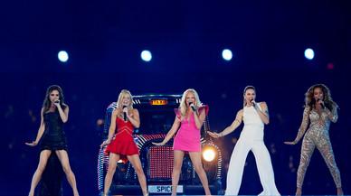 Las Spice Girls posan en la ceremonia de clausura de Londres, en el 2012.