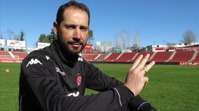 Pablo Machín, técnico del Girona, señala su tercer intento, que espera sea el bueno