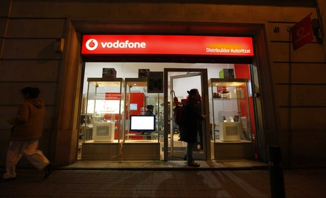 Tienda de Vodafone en Barcelona.