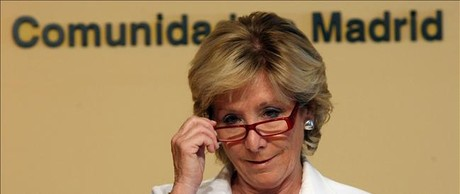 Esperanza Aguirre, presidenta de la Comunidad de Madrid.