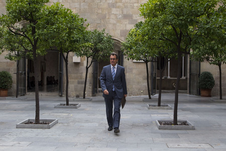 Artur Mas, el martes, en el Palau de la Generalitat. 