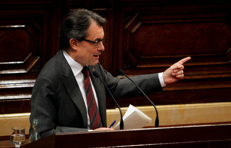 Artur Mas, durante su intervencin en el pleno del Parlament, el mircoles. 