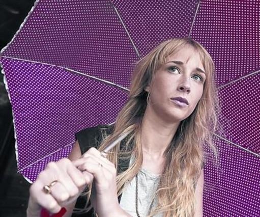 Ingrid García Jonsson, la semana pasada, en los cines Princesa de Madrid.