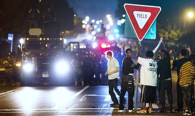 La noche de Ferguson (19-8-2014).