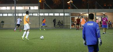 Campo de f�tbol del Tibidabo Torre Romeu, en Sabadell.