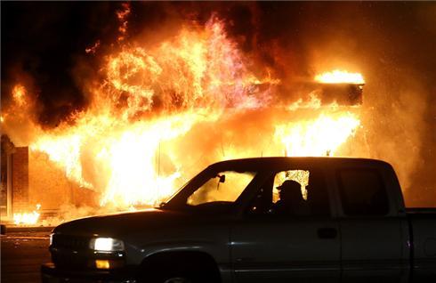 Disturbios en la ciudad de Ferguson, en Misuri.