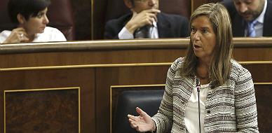 La ministra de Sanidad, Ana Mato, esta ma�ana en el Congreso.
