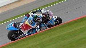 Àlex Márquez se subía a una moto por primera vez tras operarse de los brazos.