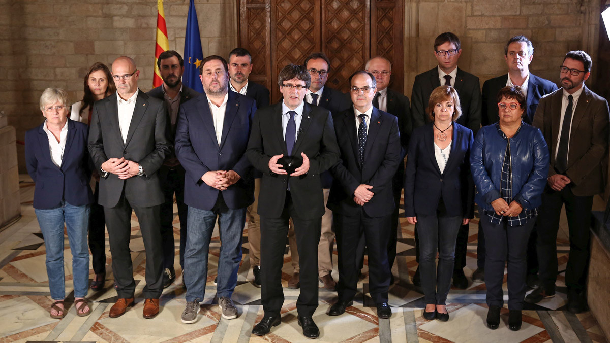 La imagen original del Govern, tomada después del referéndum del 1-O.