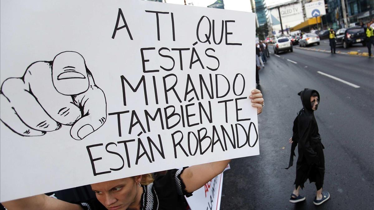 Manifestación contra la corrupción en Panamá