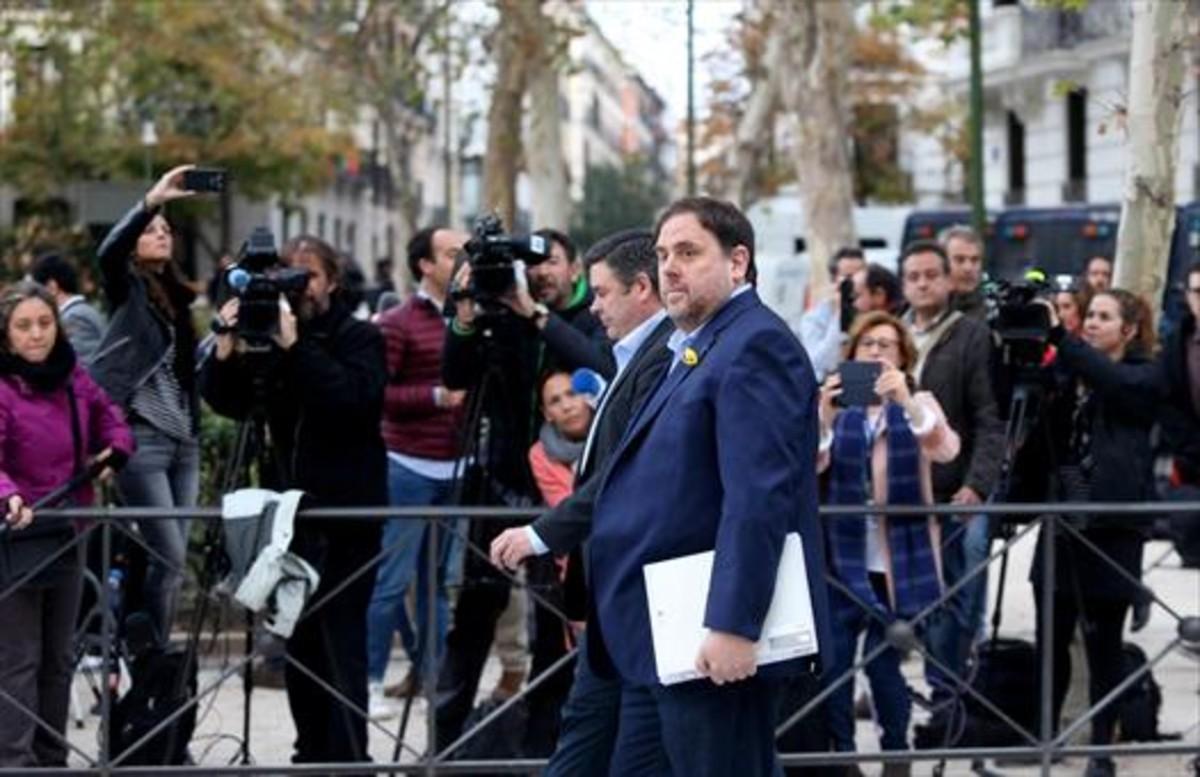Oriol Junqueras se dirige a la Audiencia Nacional, el pasado 2 de noviembre.