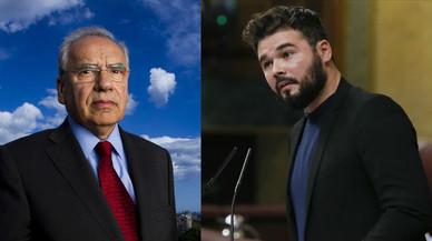 """Alfonso Guerra carga contra Gabriel Rufián y el """"veneno"""" nacionalista"""