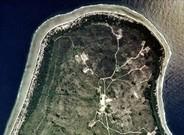 Imagen captada por un sat�lite de la isla de Nauru.