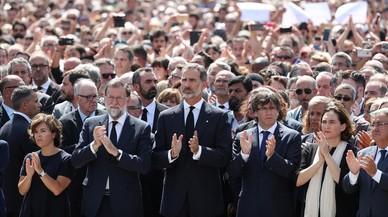 Unidad institucional tras los atentados en Catalunya