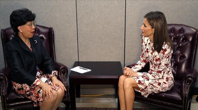 Letizia se reúne con dirigentes de la OMS, la FAO y UNICEF