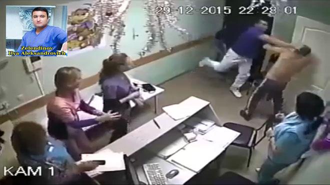 El doctor Aleksandrovich del Hospital de B�lgorod (Rusia) propin� un pu�etazo mortal a un paciente.